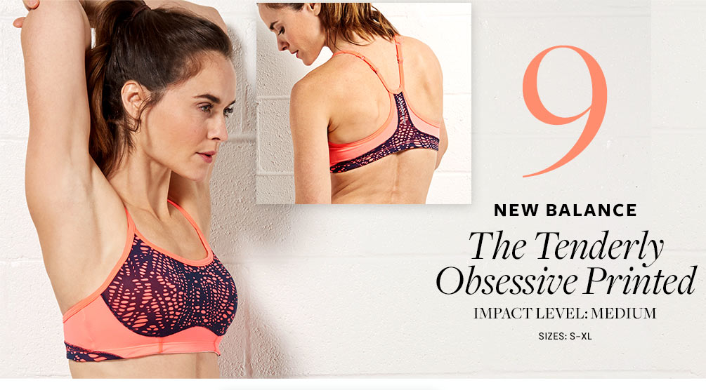 New Balance The Tenderly Obsessive Printed Sports Bra WBT6306