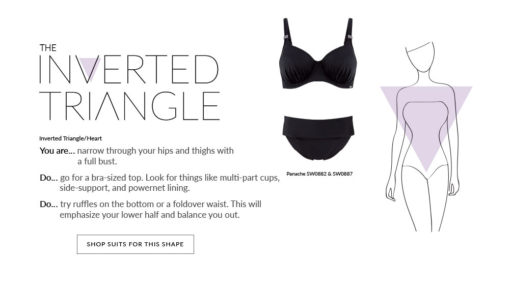 Swim By Shape Lookbook - Inverted Triangle