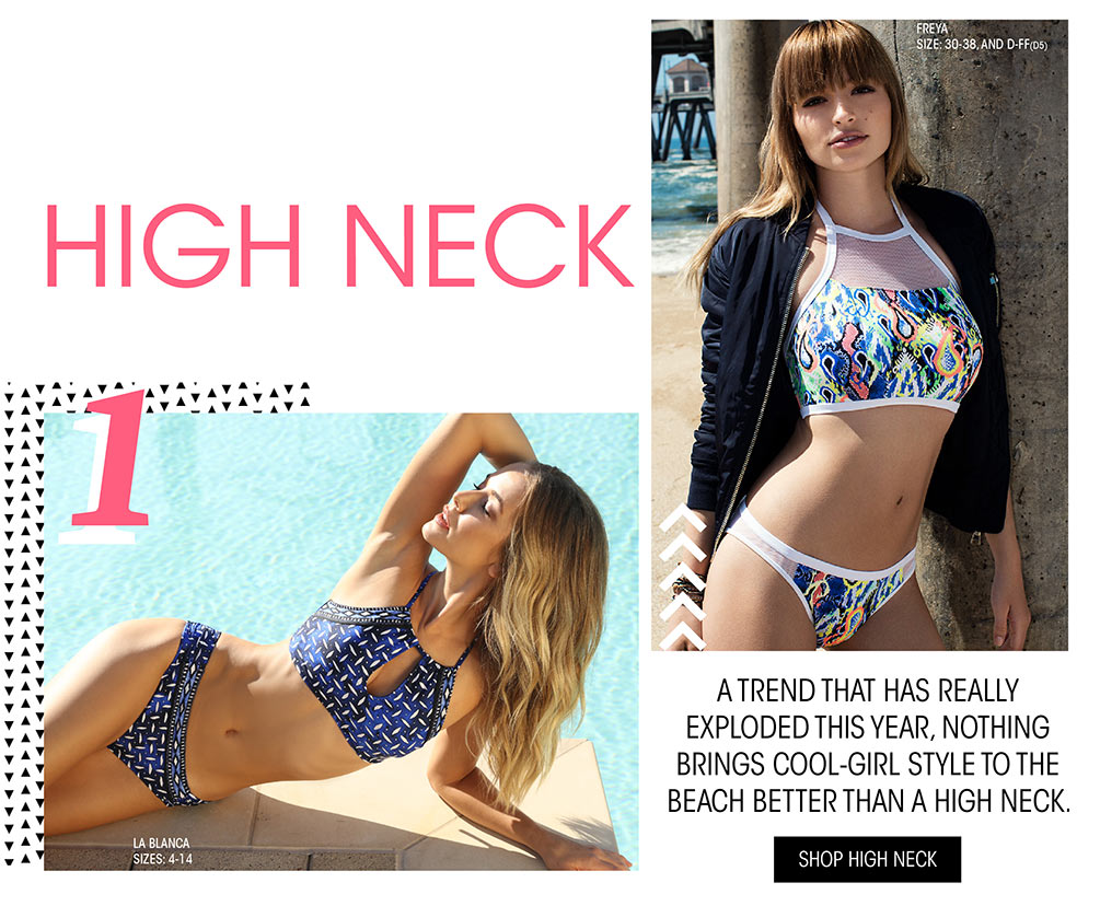 Top 5 Swim Trends Lookbook - High Neck Swimwear