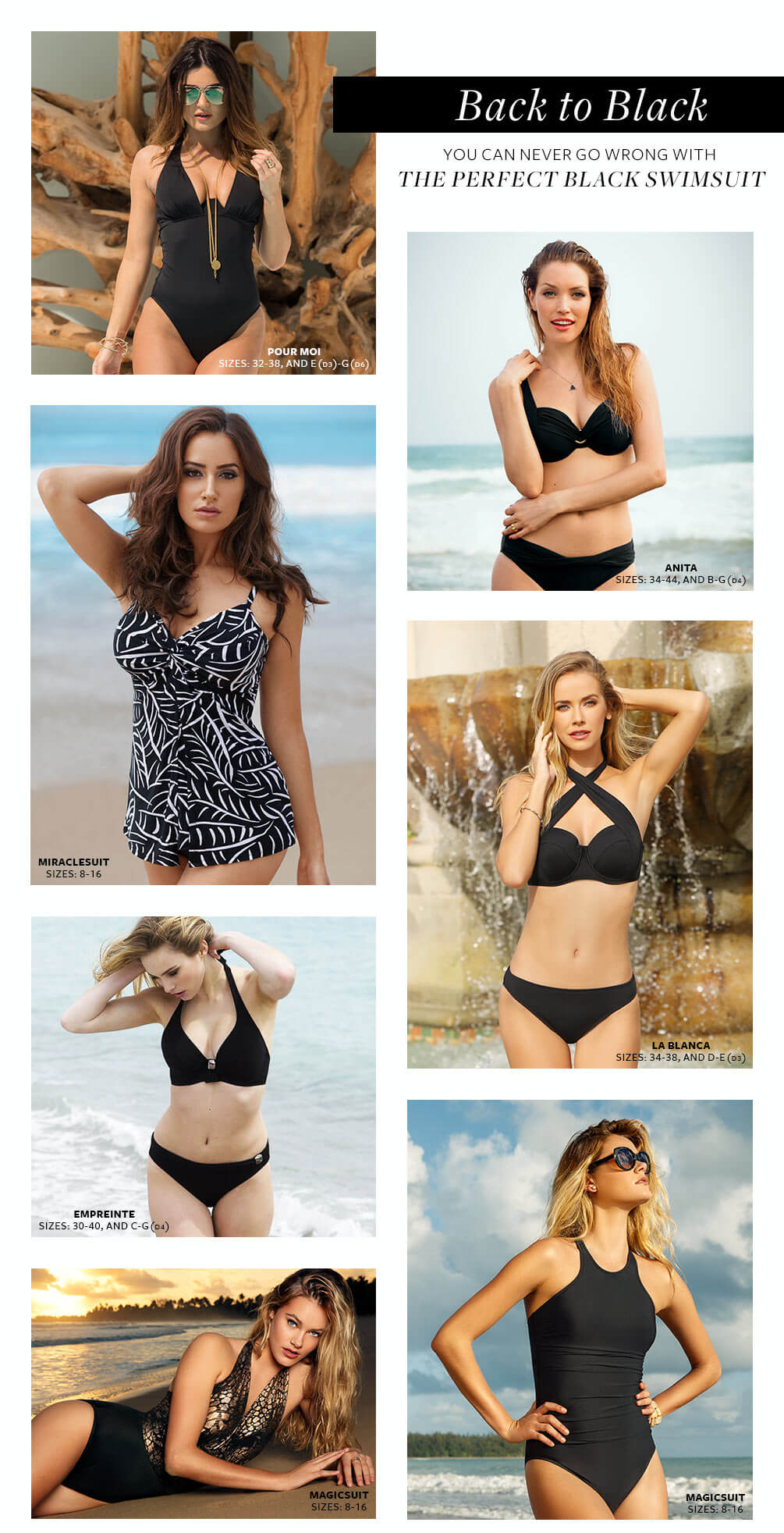 Black Swimwear Lookbook