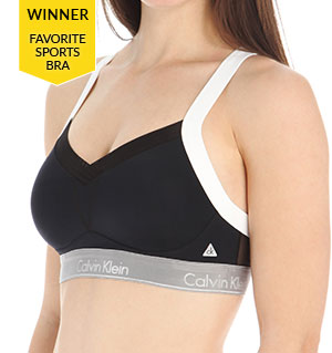 Average: Calvin Klein Flex Motion Medium Impact Convertible Sports Bra QF1085