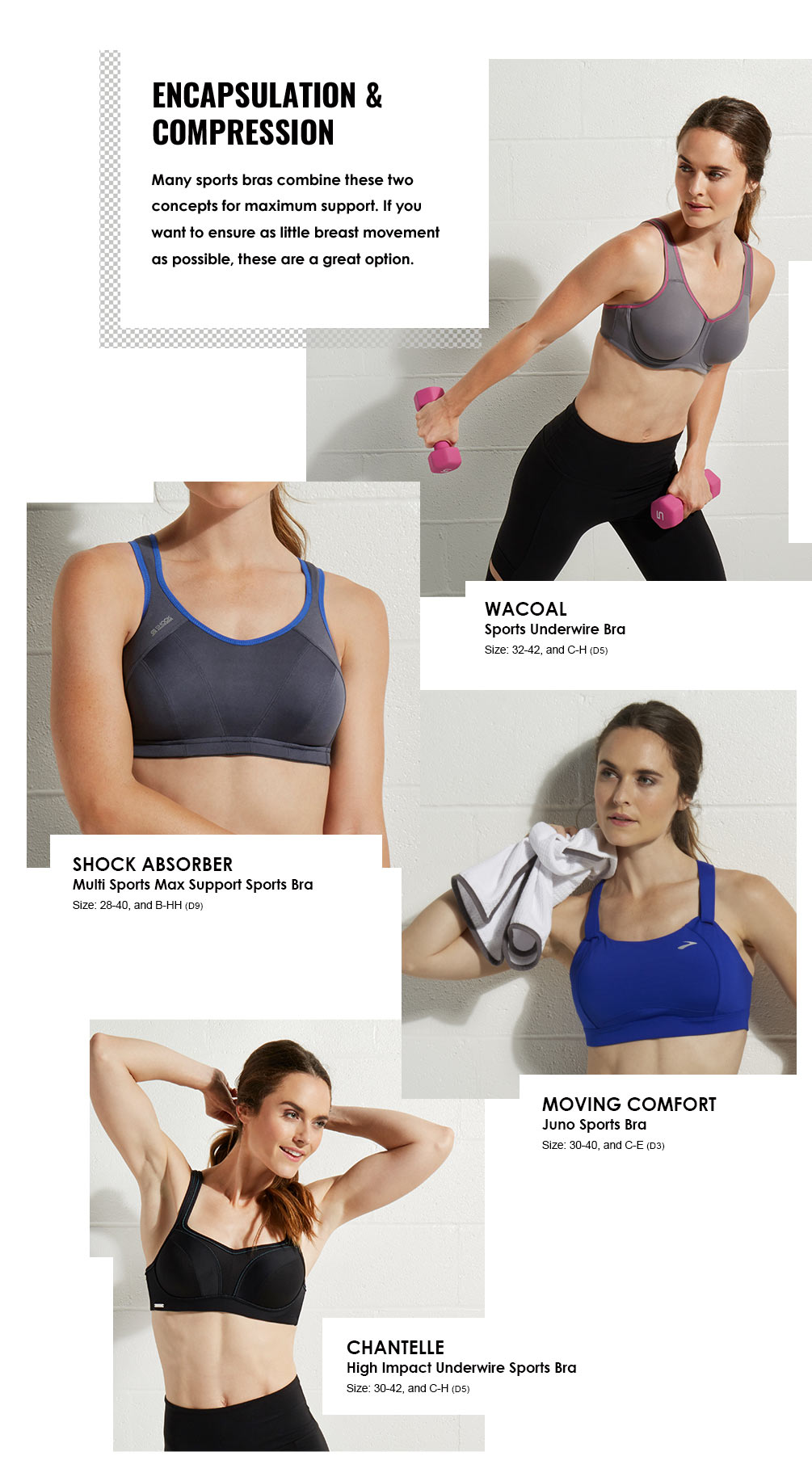 Sports Bras Lookbook - Encapsulation And Compression