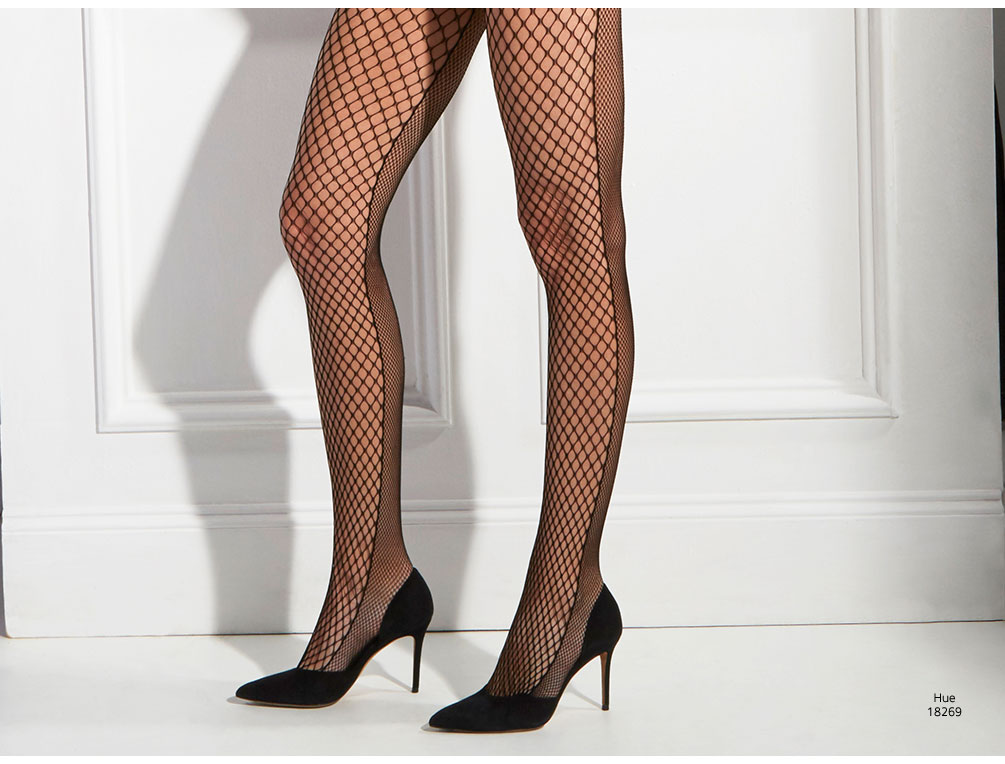 Hue Half and Half Net Tights 18269