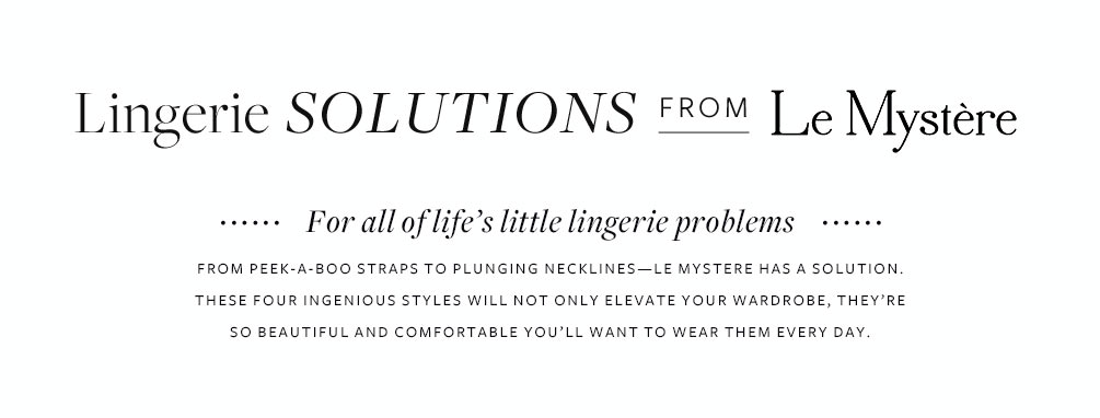 Lingerie Solutions From Le Mystere Lookbook