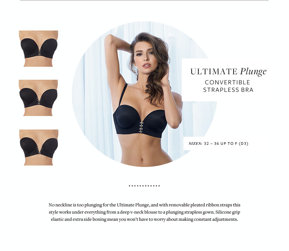 Le Mystere Ultimate Plunge Convertible Strapless Bra 9796