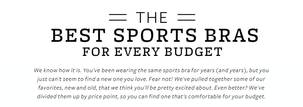 Best Sports Bras Lookbook