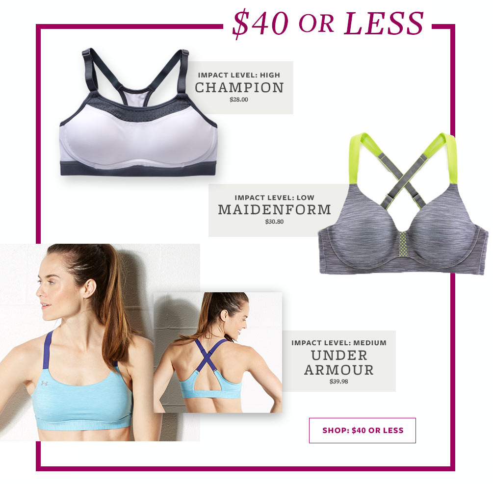 Best Sports Bras Lookbook - $40 Or Less