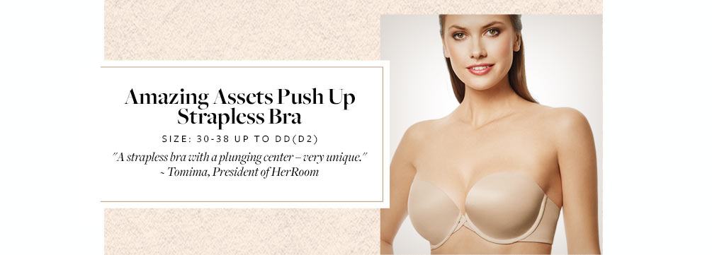 Wacoal Amazing Assets Push Up Strapless Bra 854220