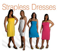 What's She Underwearing - Strapless Dresses