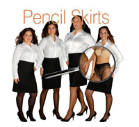 What's She Underwearing - Pencil Skirts & Button Downs