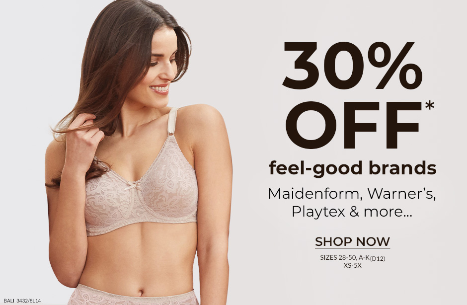 30% off feel-good bramds