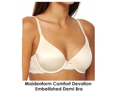 Maidenform Comfort Devotion Embellished Demi Bra 9441