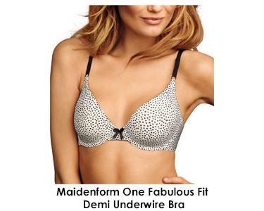 Maidenform One Fab Fit Original Tailored Demi T-Shirt Bra 7959