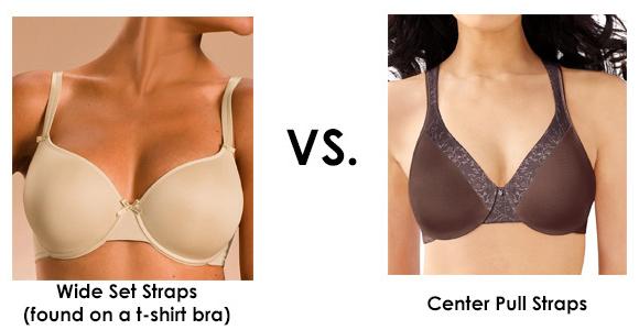 Center Pull Straps vs Wide-Set T-Shirt Bra Straps