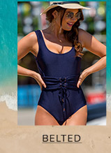 18b808566f0 Shop Athletic Swimwear Shop Striped Swimwear Shop Belted Swimwear ...
