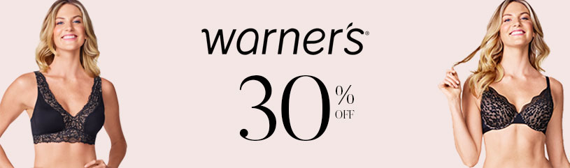 Warners - favorite brands sale 30 pct off